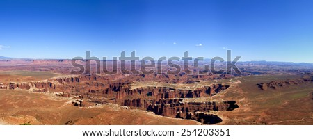 Grand View Point, Canyonlands National Park, Utah. - stock photo