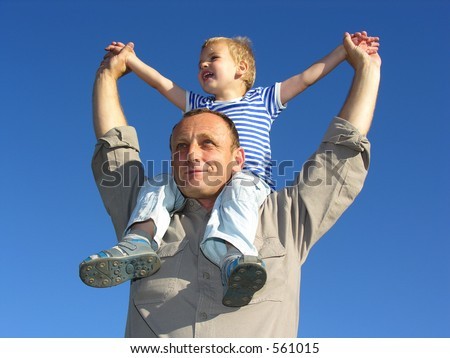 grandfather with grandson 2 - stock photo