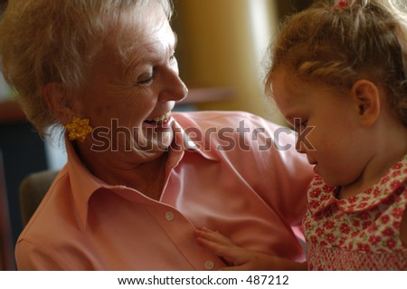 GrandMother and Daughter - stock photo
