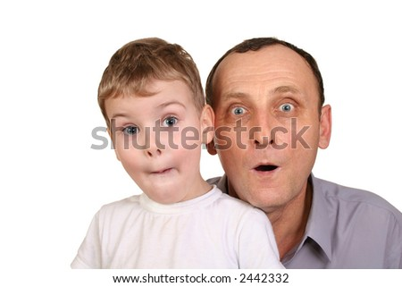 grandson surprise - stock photo