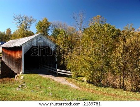Grange City Covered Bridge - stock photo