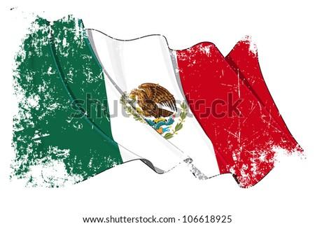 Grange Flag of Mexico - stock photo