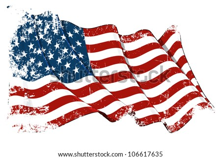 Grange Flag of USA - stock photo
