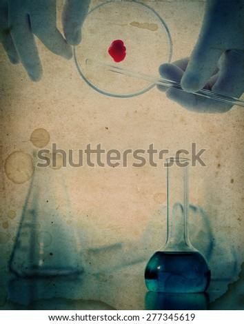 Grange science and medical background - stock photo
