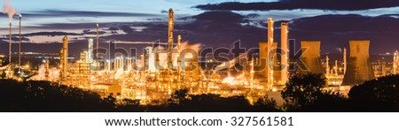 Grangemouth Refinery, Scotland - stock photo