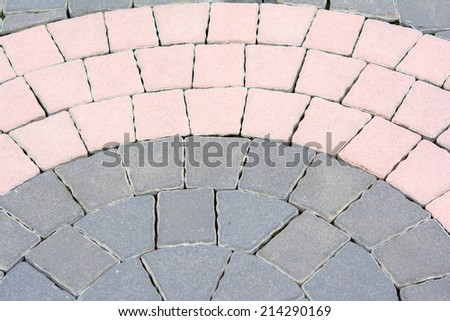 Granite cobblestoned pavement background  - stock photo