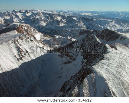 Granite Peak and Tempest Mountain. Montana - stock photo