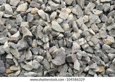 Granite rock - small, construction granite stones. Imagery suitable for backgrounds - stock photo
