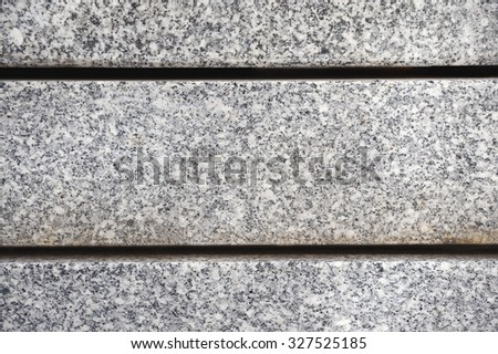 Granite slabs side view - stock photo