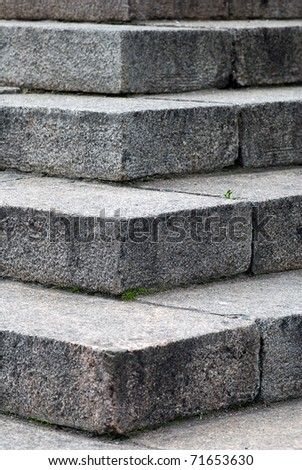 Granite steps - stock photo