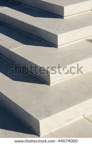 Granite steps geometry - stock photo