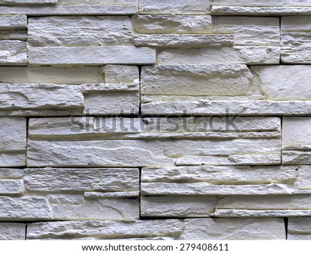 Granite stone gray decorative brick wall seamless background texture - stock photo