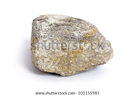 Granite stone isolated on white background