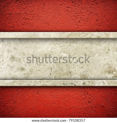 granite stone on red wall - stock photo
