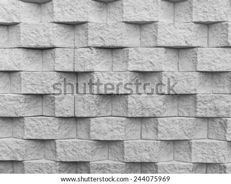 Granite stone wall - stock photo