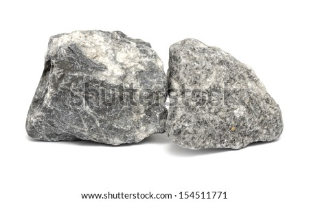Granite stones on the white background - stock photo