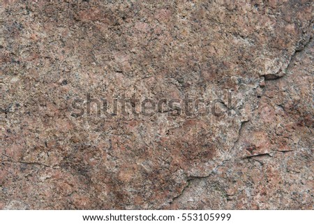 Granite texture background. Filmed near Badaling Great Wall, China.