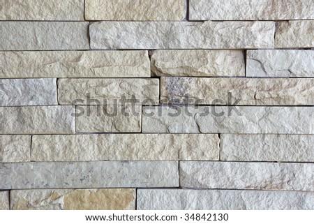 Granite wall bricks background texture - stock photo