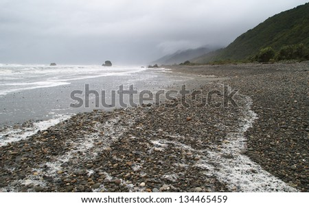 Granity beach, West coast, New Zealand