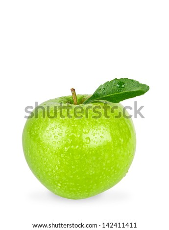 Granny Smith Apple Isolated on a White Background with Clipping Path - stock photo