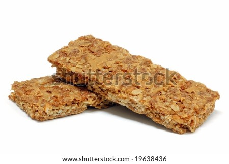 Granola bars isolated on a white background - stock photo