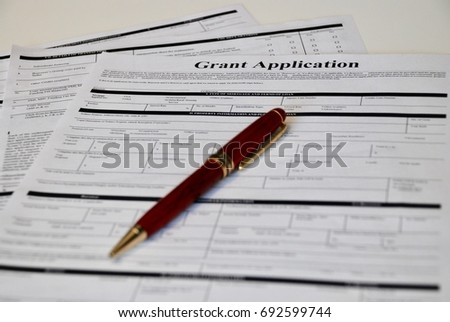Grant Application Form Stock Photo Royalty Free
