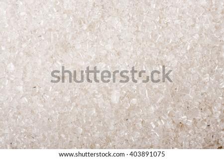 granulated sugar as a background close-up macro - stock photo