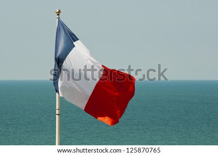 Granville - Normandy - France - The flag on france