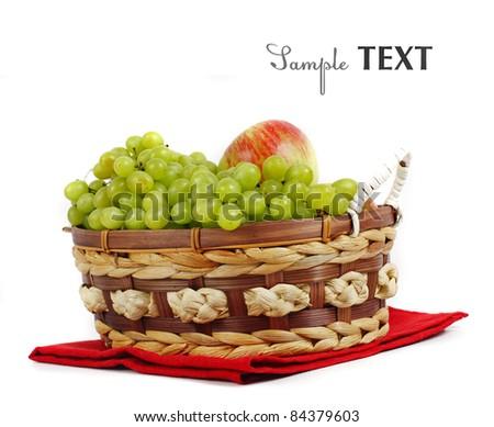 Grape and apple - stock photo