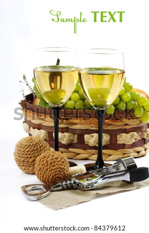 Grape and wine - stock photo