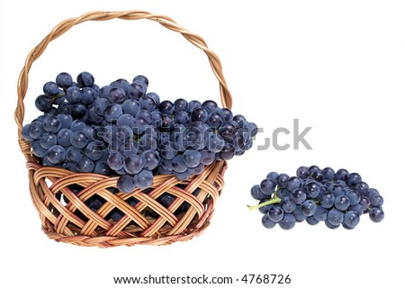 Grape in basket - stock photo