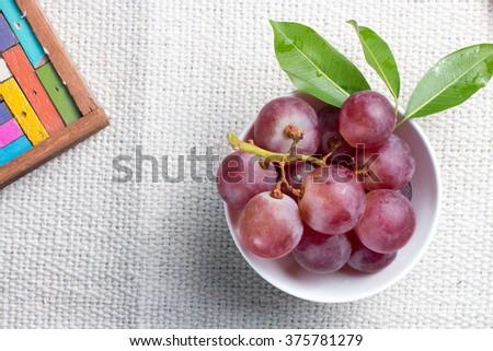 Grape in bowl - stock photo
