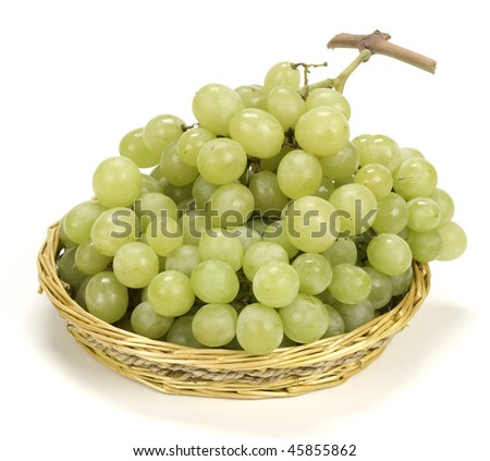 Grape in the basket - stock photo