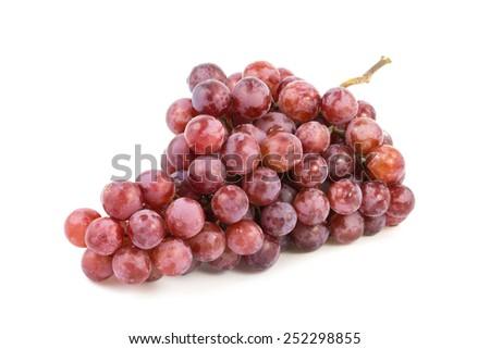 grape isolate on white - stock photo