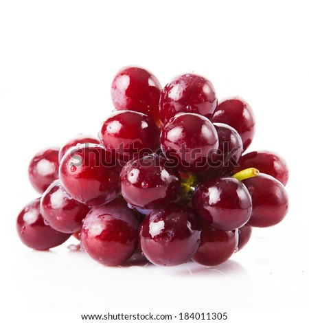 grape isolated on white - stock photo