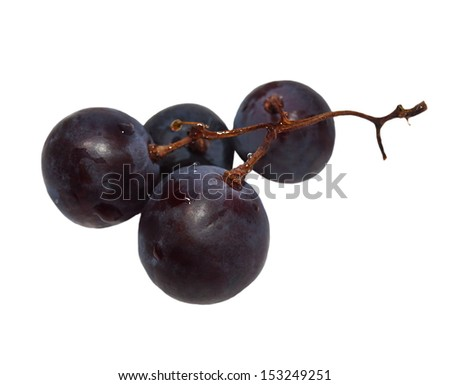 grape isolated on white background with clipping path - stock photo