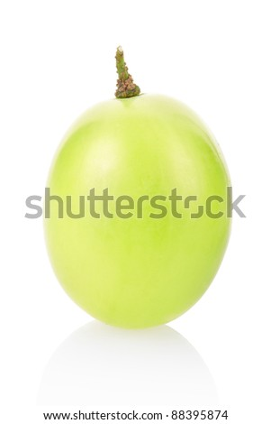 Grape isolated on white, clipping path included - stock photo