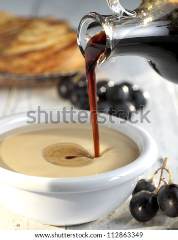 grape molasses - stock photo