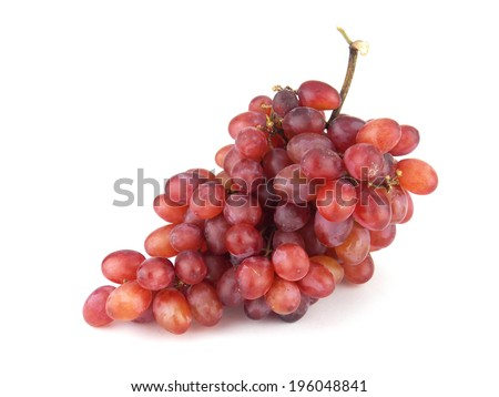 grape on white - stock photo