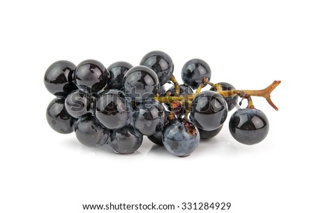 grape vine isolated on white background - stock photo