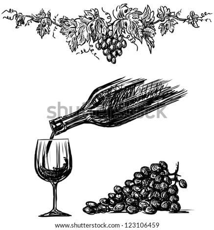 grape wine - stock photo