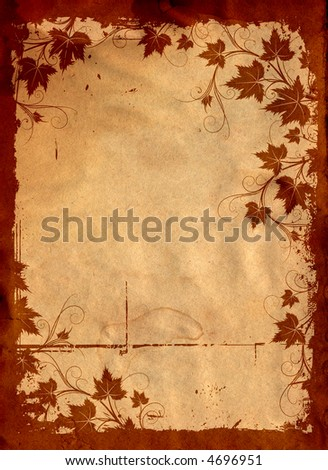 Grape, wine label, abstract floral frame - stock photo