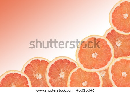 grapefruit background with gradient transition