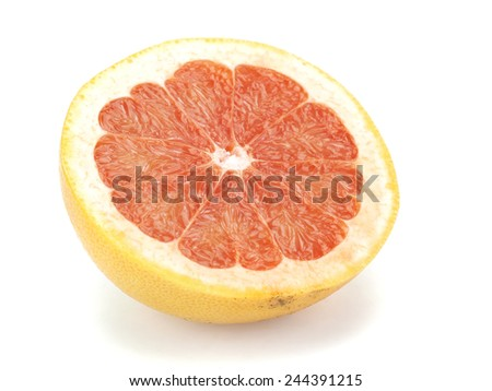 Grapefruit fruits on white background - stock photo