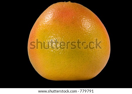 Grapefruit isolated on black background with clipping path