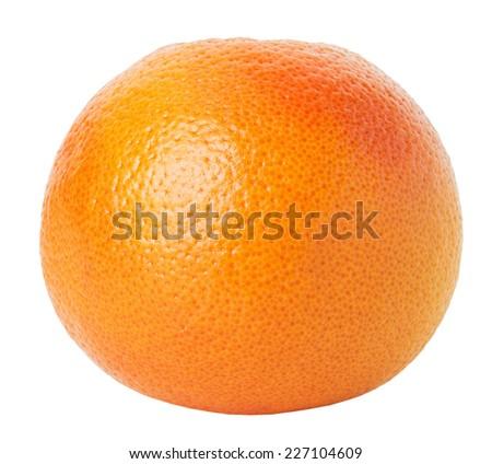 grapefruit isolated on the white background - stock photo