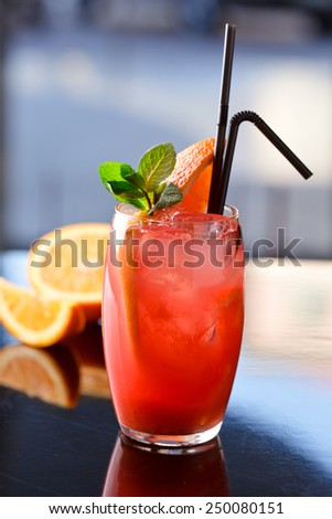 Grapefruit lemonade - stock photo