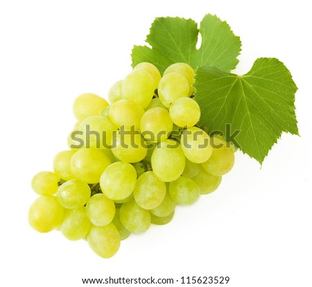 Grapes brunch closeup isolated on white background - stock photo