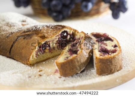 grapes cake - stock photo