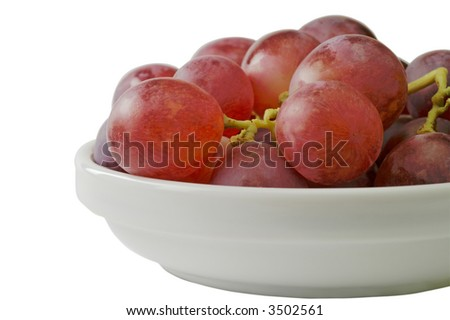 Grapes  in bowl closeup (3)